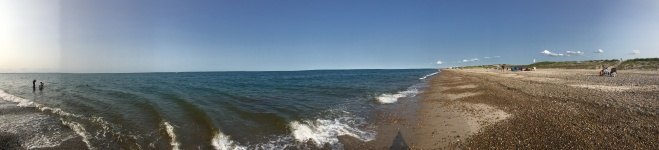 Panorama of Sandwich beach